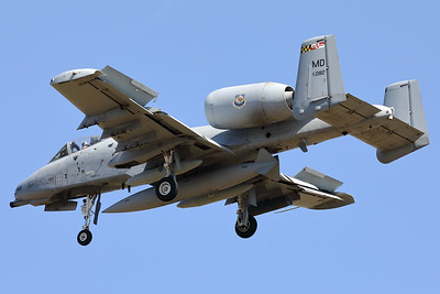 A USAF A-10C Thunderbolt II (79-0082; cnA10-0346) is seen here on final for RWY05 at ETAD. This A-10C belongs to the 175th Wing (175 WG), a unit of the Maryland Air National Guard, stationed at Warfield Air National Guard Base, Middle River, Maryland.