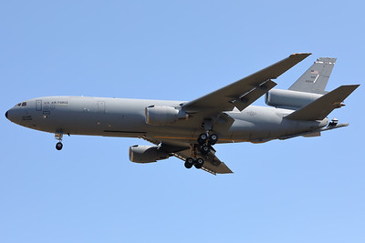 A USAF KC-10A Extender (86-0034; cn48247/421) is seen here on final for RWY05 at ETAD. This KC-10A belongs to the 60th Air Mobility Wing (60 AMW) at Travis Air Force Base in California, which is the largest air mobility organization in the USAF and is responsible for strategic airlift and aerial refueling missions around the world.