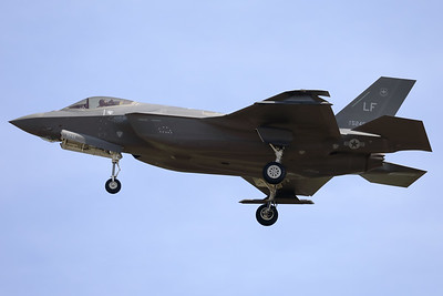 "A USAF F-35A Lightning II (17-5245; cnAF-187) is seen here on final for RWY05 at ETAD. This F-35A from the 308th FS at Luke AFB, together with the F-35A's from 388th FW / 421st FS and the 419th FW / 466 FS, based at Hill AFB (Utah) have been deployed to Europe as a ""Theater Security Package""."
