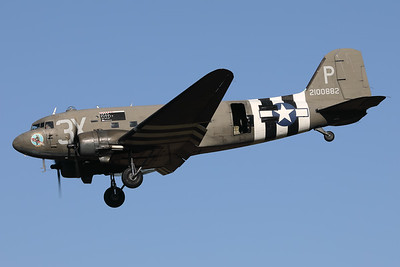 A Douglas C-47A Skytrain (N473DC; 42-100882; 3X-P; cn19345) is seen here on final at Eindhoven Airport during the celebrations for 75-Years Market Garden.