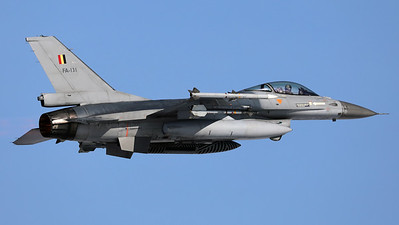 One of the Belgian Air Force QRA-jets, a F-16AM (FA-131; cn6H-131), seen here on take-off from Florennes Air Base.