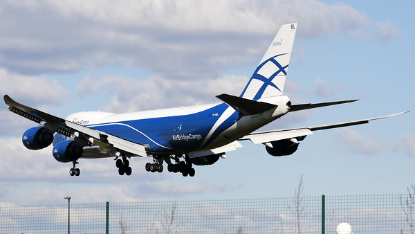This Boeing 747-8HVF/SCD (VP-BBL; msn63378) from AirBridgeCargo Airlines - ABC, is seen here on final for RWY01 at Brussels Airport.