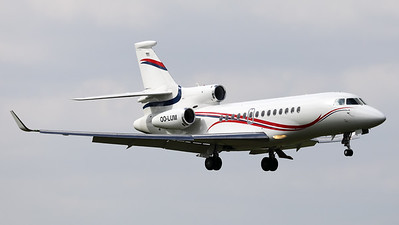 This Belgian Air Force Dassault Falcon 7X (OO-LUM; msn4) is seen here on final, prior to land on RWY01 at Brussels Airport.