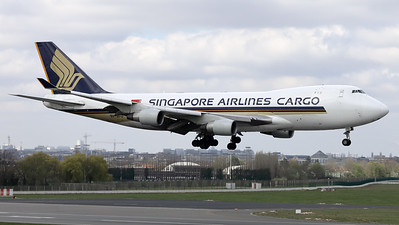 This Singapore Airlines Cargo Boeing 747-412F/SCD (9V-SFO; msn32900) is seen here prior to landing on RWY01 at Brussels Airport.