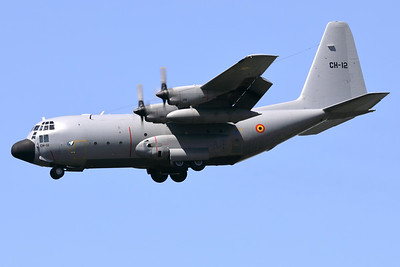 """This Belgian Air Force C-130H """"Hercules"""" (CH-12; msn382-4483) is seen here on final for RWY25L at Brussels Airport, on a very hot and sunny day."""
