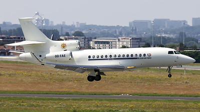 This Belgian Air Force Dassault Falcon 7X (OO-FAE; msn79) is seen here seconds before touchdown on RWY01 at Brussels Airport.