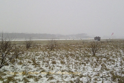 A snow-covered runway at Wittmund...