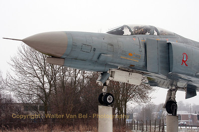 """Cold as ice"" and with a little bit of snow on its canopy. Close-up of German Air Force F-4F Phantom II (38+14, cn4646), preserved at Wittmund."