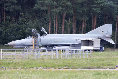 Mission almost accomplished for this German Air Force F-4F Phantom II, from JG71 at Wittmund, stopped in front of its shelter after landing on RWY26, at the end of an afternoon training mission.