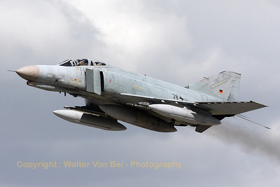 A German Air Force F-4F Phantom II, from JG71 at Wittmund, overshooting at the start of an afternoon training mission.