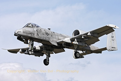 "A Spangdalem based A-10C (81-0962/SP; cn: A10-0657) on final for a low pass over RWY28 at Gilze-Rijen, during the ""GRAS""-organized spottersday."
