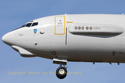 "Close-up of a NATO E-3A Sentry, performing a low approach to RWY28, during the ""GRAS""-organized spottersday at Gilze-Rijen."