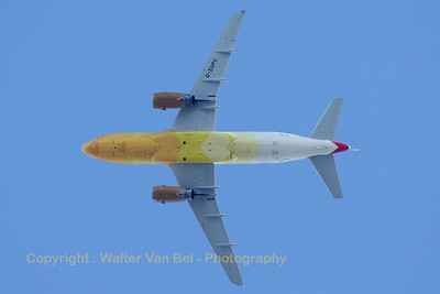 "British Airways A319-131 (""G-EUPC"", cn1118), shot when it passed over my garden, wearing a special livery for the London 2012 Olympic Games. The ""Firefly"" is the aircraft that transported the Olympic torch to the UK (Culdrose) on May 17th, 2012."