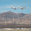 Stratolaunch low approach on its 2nd flight from Mojave Air &Space Port, CA. 04-29-2021
