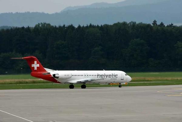 Helvetic Airways Fokker F100 HB-JVC, Zurich, Tues 16 June 2015 - 1705.