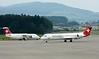 Swiss Avro RJ100 HB-IXQ & Helvetic Airways Fokker F100 HB-JVC, Zurich, Tues 16 June 2015 - 1603.