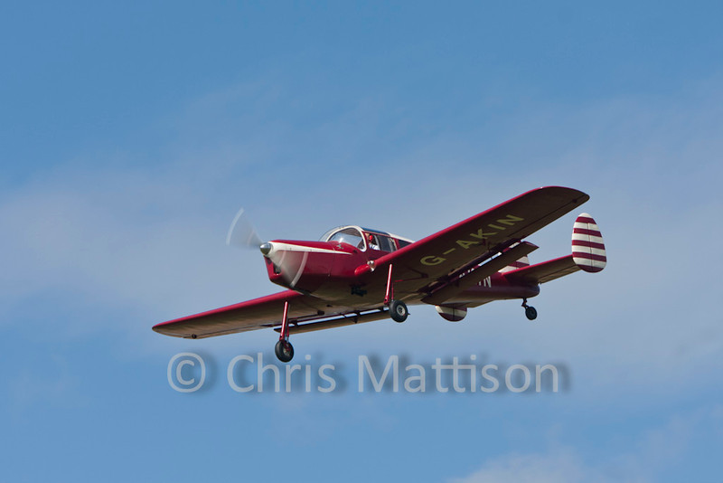 Miles M38 Messenger 2A, reg G-AKIN, built 1947, resident at Sywell and a very rare aeroplane nowadays.