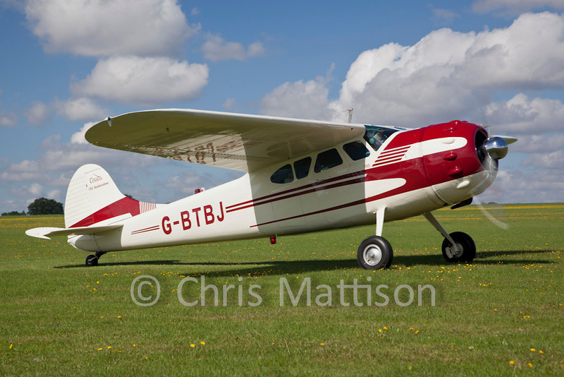 Cessna 195 Businessliner, reg G-BTBJ.  I have a soft spot for these 1930s Art Deco aircraft from the USA and photograph them whenever I get the chance.