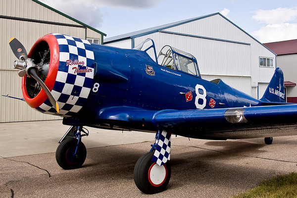 Robin Crandall's beautiful SNJ at Anoka-Blaine Airport.