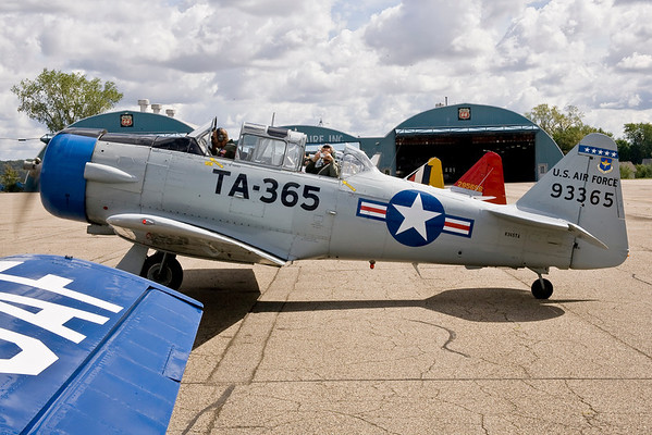 Aircraft start engines and prepare to taxi at Fleming Field.