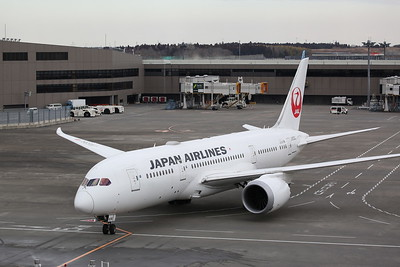 Japan Airlines Boeing 787-8 Dreamliner, JA836J, taxiing to stand - 12/02/19