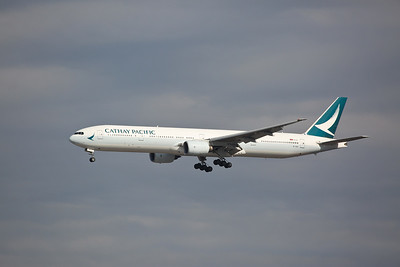 Cathay Pacific Boeing 777-31H, B-HNS, on finals - 12/02/19