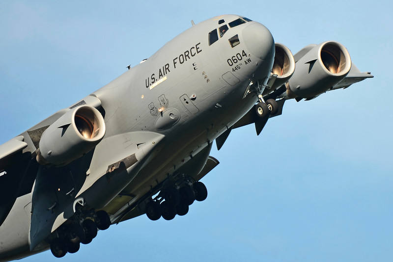 C-17A Globemaster III from Wright-Patterson Air Force Base, Ohio (Wright-Patt AFB is one of the largest AFBs in the U.S.)