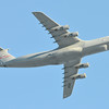 C-5B flying over Barnes Municipal Airport