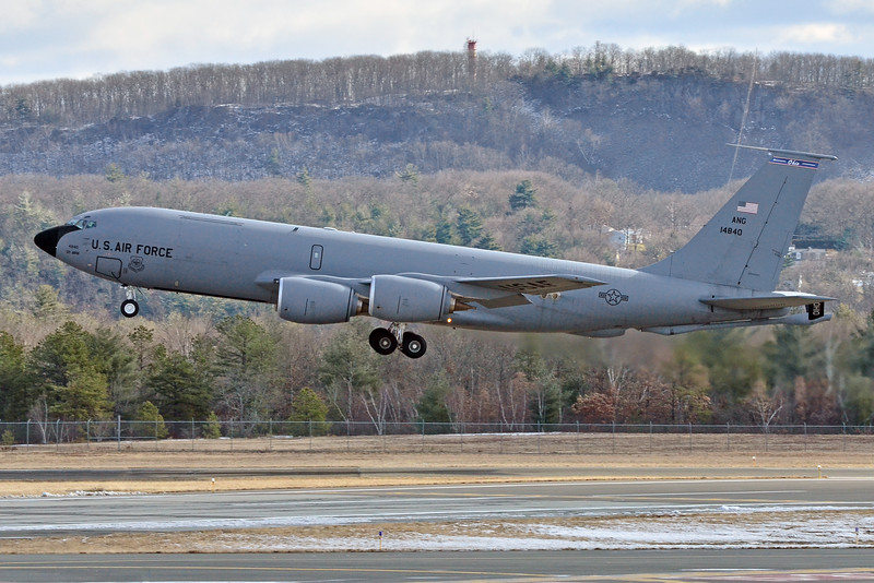 KC-135 departure for Nellis Air Force Base in Nevada with 104th Fighter Wing guardsmen aboard.  (1/18/12)