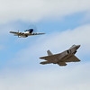 Heritage Flight with Crazy Horse II and F-22