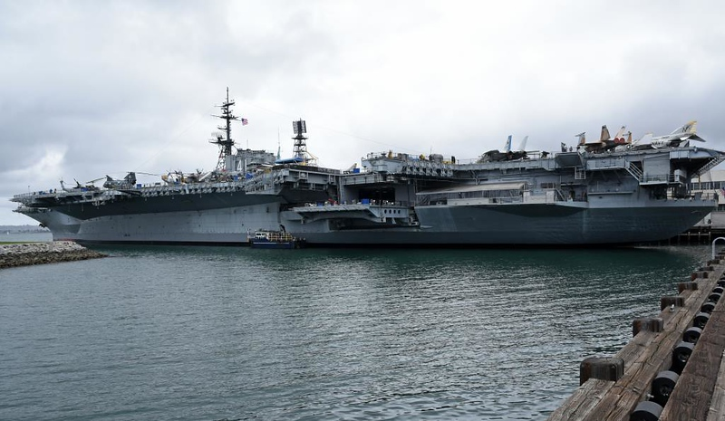 USS Midway (CV 41), San Diego, California, 30 April 2019 1. The first of three Midway class carriers, in service 1945 - 1992.