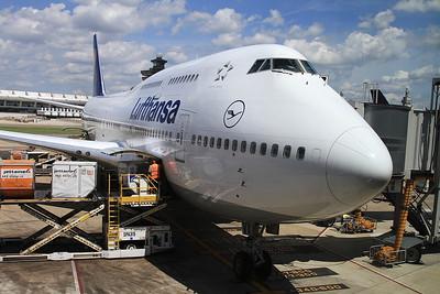 Lufthansa Boeing 747-430, D-ABVX, Frankfurt, LH416 10.45 to Washington Dulles - 24/08/16.