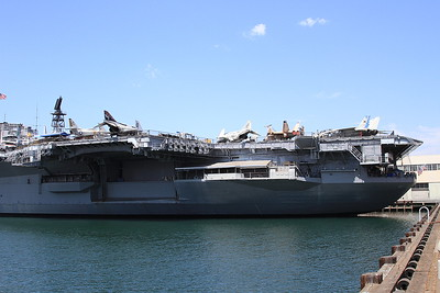 USS Midway viewed from the quayside - 31/08/16.
