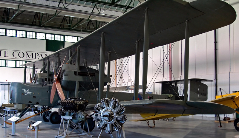 Replica Vickers Vimy G-AWAU Triple First, Royal Air Force Museum, Hendon, 18 September 2007 2.