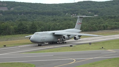C-5A Galaxy taxiing and taking off