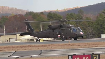 UH-60 Black Hawk doing a touch and go