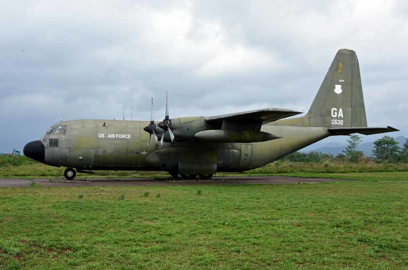 Lockheed C-130 Hercules 56-0532, Khe Sanh combat base museum, 9 March 2018 1.  Despite the USAF markings this is apparently a former South Vietnam AF aircraft.