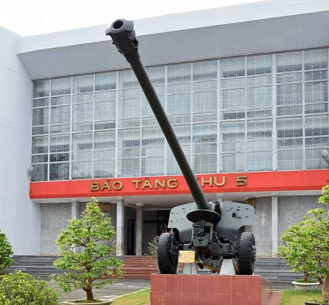 Museum of Military Zone 5, Da Nang, 12 March 2018.  130mm gun in front,