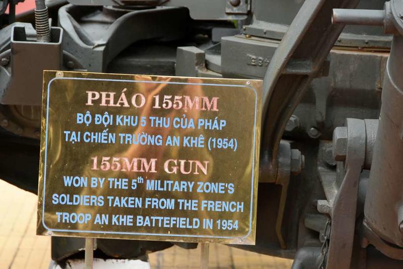 Former French 155mm gun, Museum of Military Zone 5, Da Nang, 12 March 2018 2.