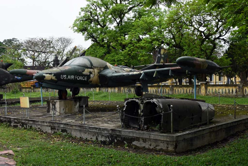 Cessna A-37 Dragonfly 68-7957, Hue Military Museum, 10 March 2018 2.  F-5 wreckage in front.