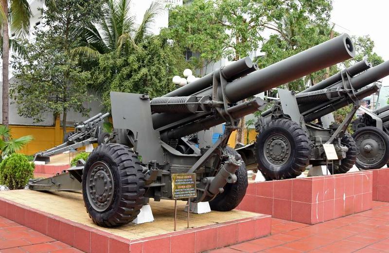Former French 155mm gun, Museum of Military Zone 5, Da Nang, 12 March 2018 1.