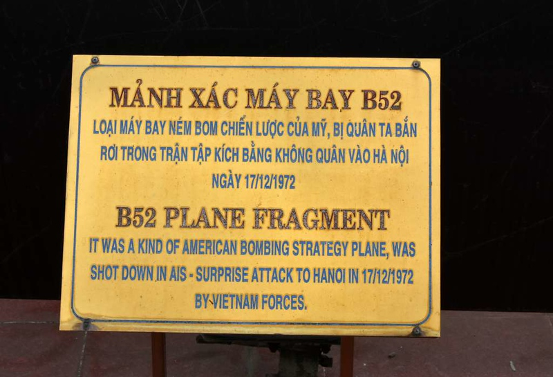 B-52 fragment, Museum of Military Zone 5, Da Nang, 12 March 2018.