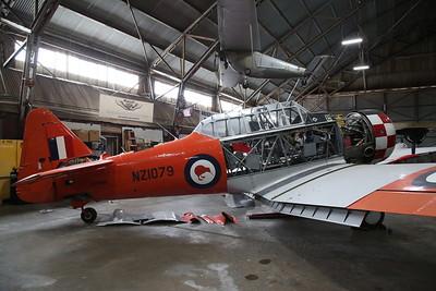ex-USAAF / RAF / RNZAF North American AT-6D Harvard III, 41-34050 / EZ177 / NZ1079, under Winter maintenance ahead of the airshow season - 10/03/19