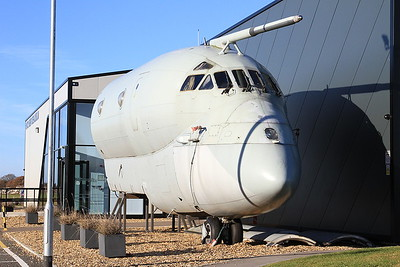 BAe Nimrod MR2, XV235, forward fuselage section, outside the Avro Heritage Museum, Woodford - 04/12/16.