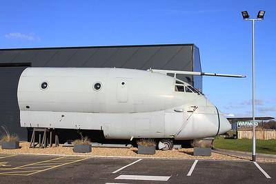 BAe Nimrod MR2, XV235, forward fuselage section, outside the Avro Heritage Museum, Woodford - 04/12/16.