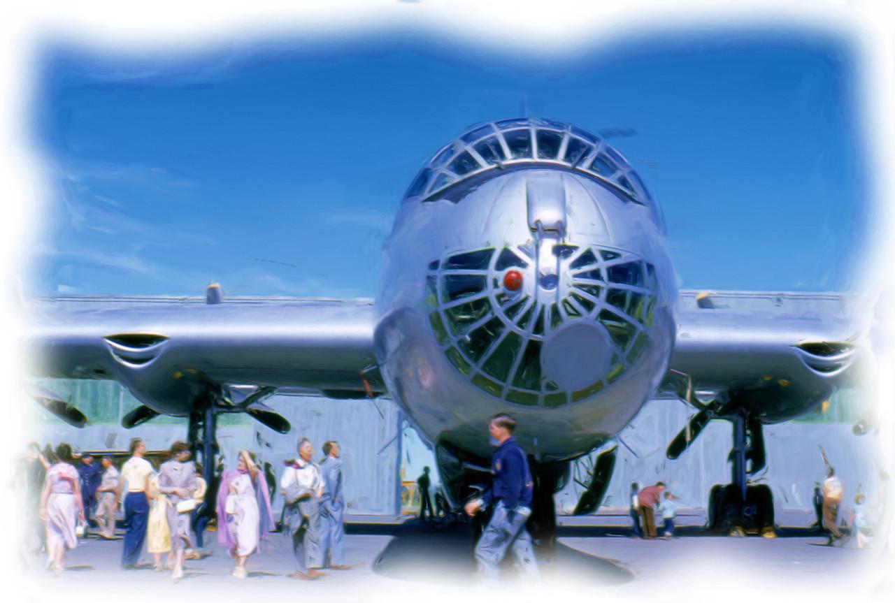 Convair B-36 Bomber in Presque Isle, Maine