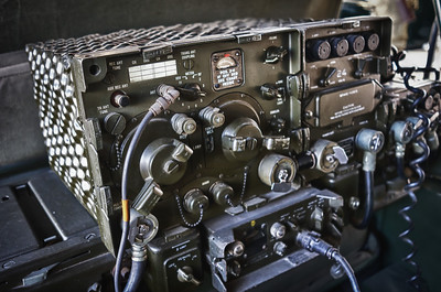 Vintage Military Radio at the Lyons Air Museum at John Wayne Airport in Orange County.