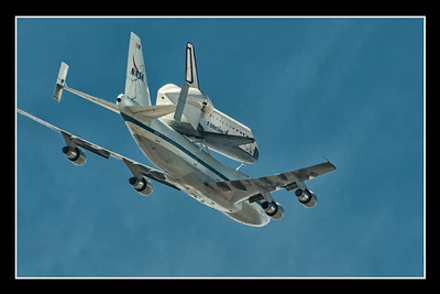 Space Shuttle Endeavor on the 747 over Long Beach, California