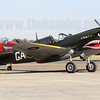 Allan Arthur's Curtiss P-40N/Kittyhawk IV VH-ZOC in the colours of 112 Sqn RAF and the unit's famous sharkmouth.