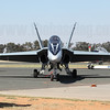 Front view of Royal Australian Air Force F/A-18A Hornet A21-38 in the stunning 75 Sqn 70th Anniversary scheme